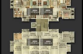 Block C2 Floor Plan of Zion Square in Goa