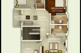 Floor Plan of Pinto Rosario Square Villas in Goa