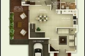 Best Villa Project in Goa- Ground Floor Plan