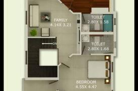 First Floor Plan of Villa in Goa