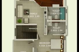 Villa B First Floor Plan -Pinto Rosario Square