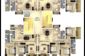 Block B1 Plan of 3BHK Flats for Sale in Goa